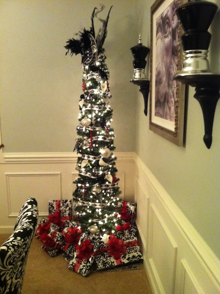 Black Pencil Christmas Trees Artificial