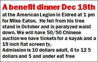 12-18 Mike Eaton Benefit Dinner, Eldred