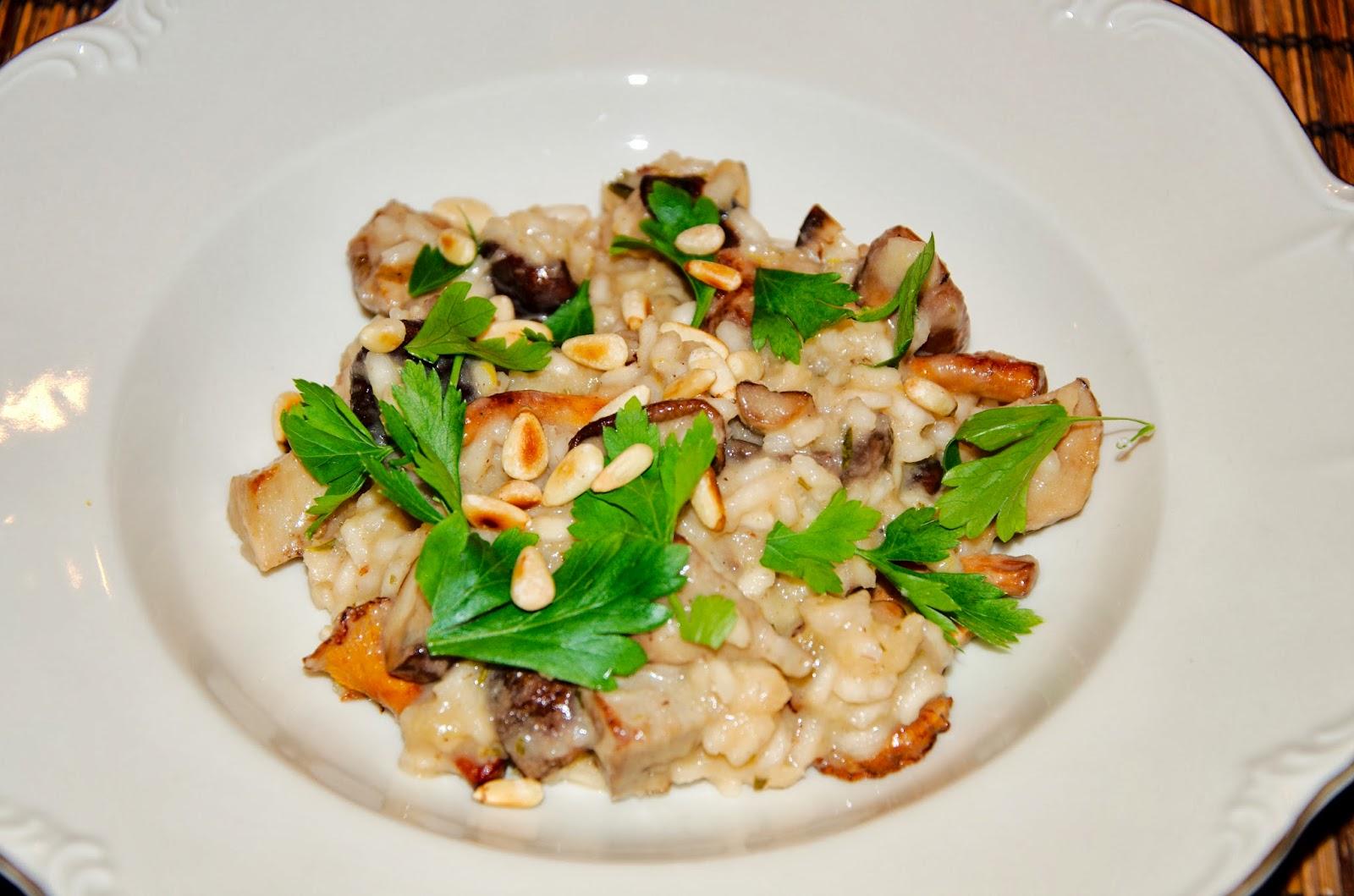 lemo 39 s universe risotto ai fungi risotto mit pilzen vegetarisch. Black Bedroom Furniture Sets. Home Design Ideas