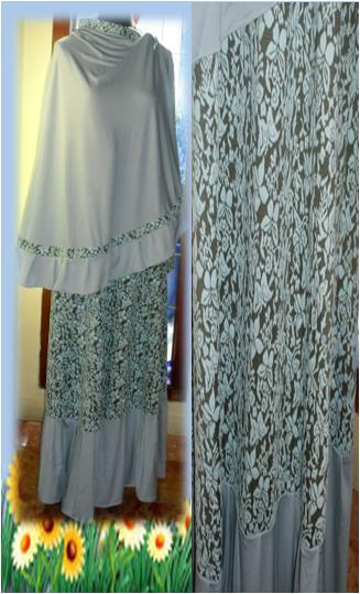Gamis Busana Muslim Trend 2014 Aneka Stelan Gamis Jilbab