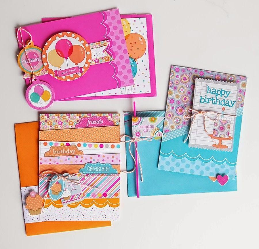 Doodlebug Design Inc Blog Sugar Shoppe Bright Birthday Card Trio – Designs of Cards for Birthday