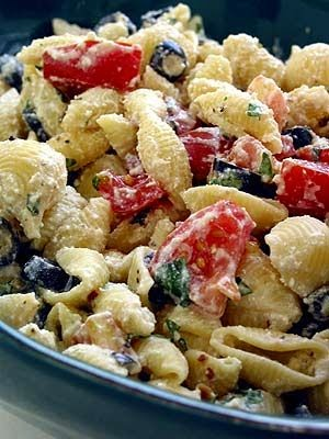 Roasted Garlic, Olive and Tomato Pasta Salad | Boy Meets Bowl