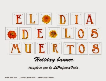 http://www.teacherspayteachers.com/Product/FREE-El-Dia-de-los-Muertos-Day-of-the-Dead-holiday-banner-921921