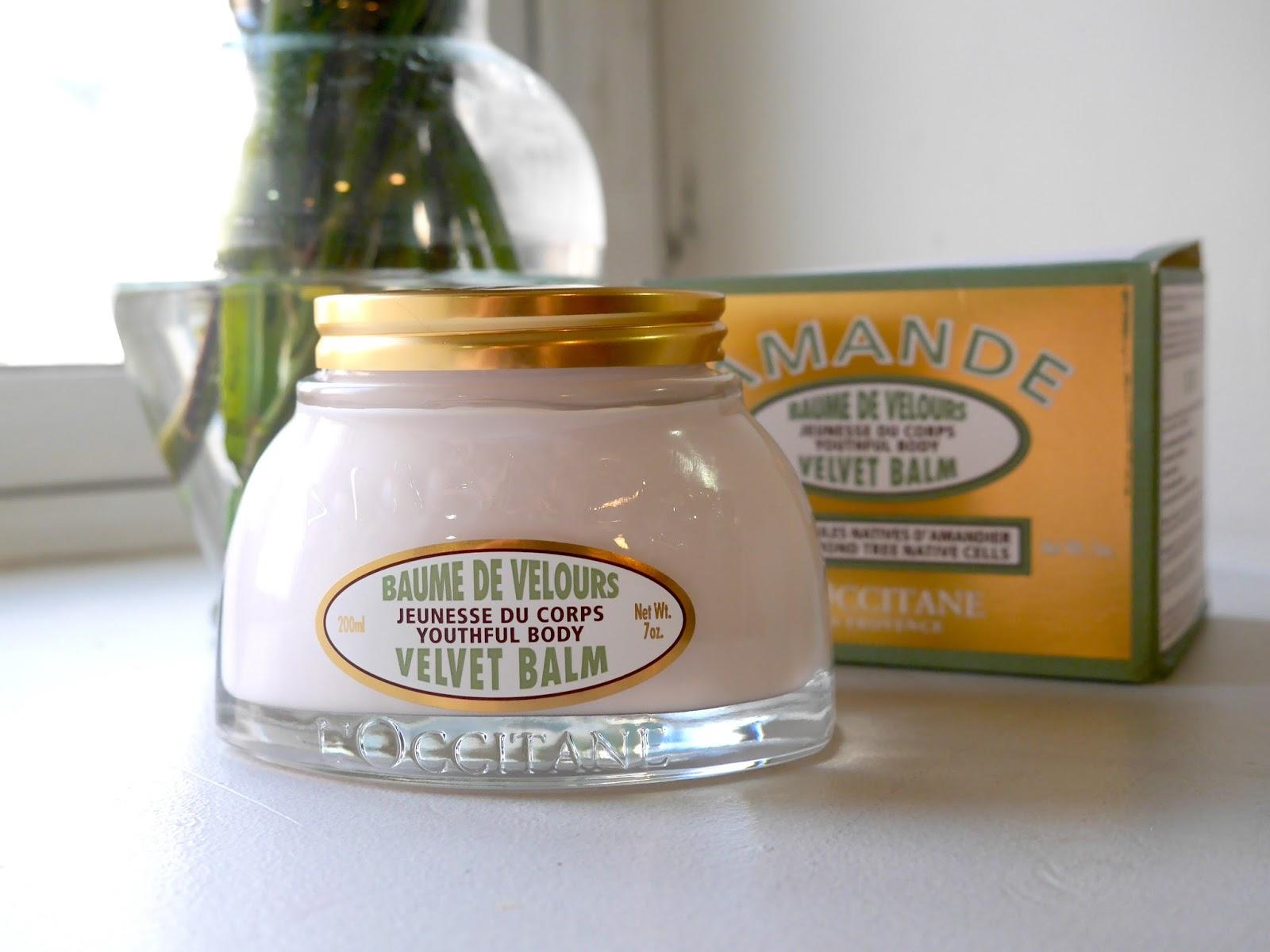 review of L'occitane's almond velvet balm amande baume de velours
