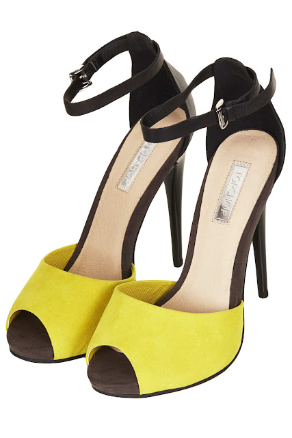 bright contrast heels