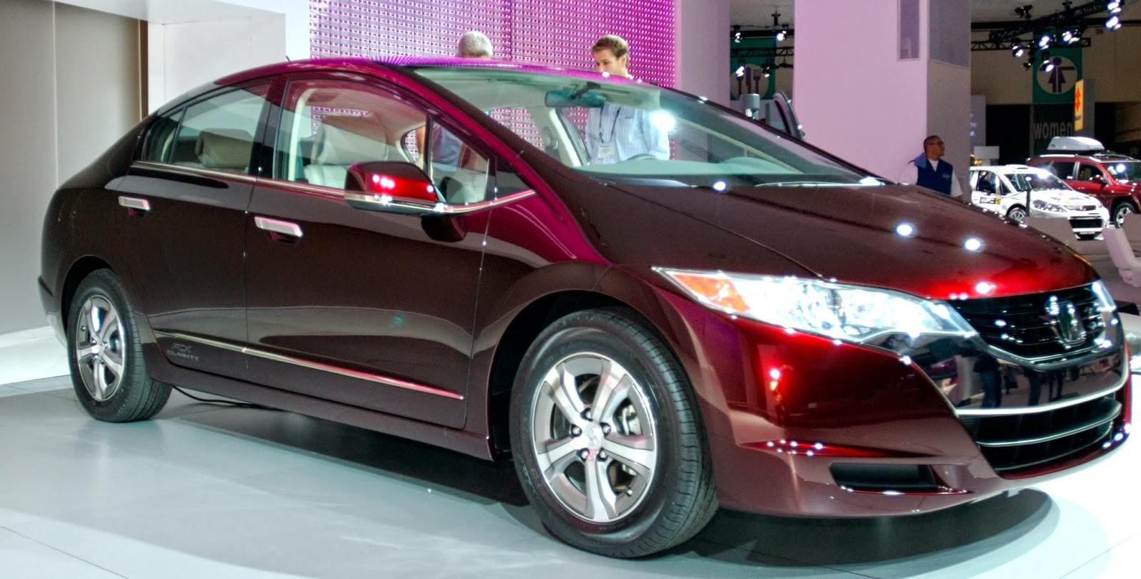 Honda FCX Clarity hydrogen fuel cell vehicle