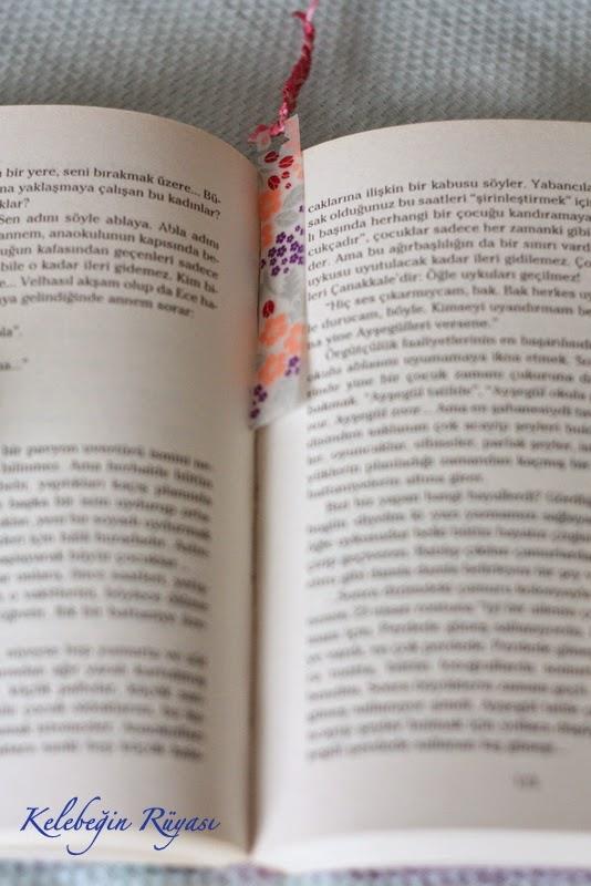 desenli bantlarla kitap ayracı yapımıd