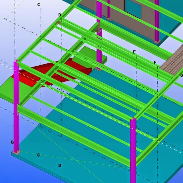 Portfolio arquitectura modelizado de estructuras con b i - Estructura metalica vivienda ...