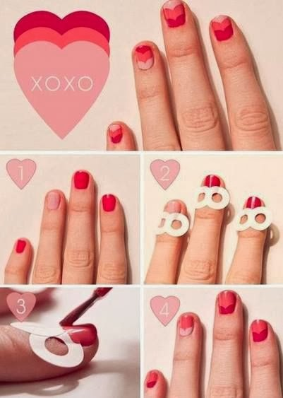 Nail art con cuori tutorial | Heart shaped nail art tutorial