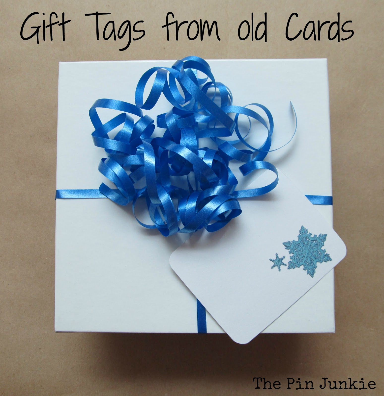 recycle old-christmas-cards to make gift tags