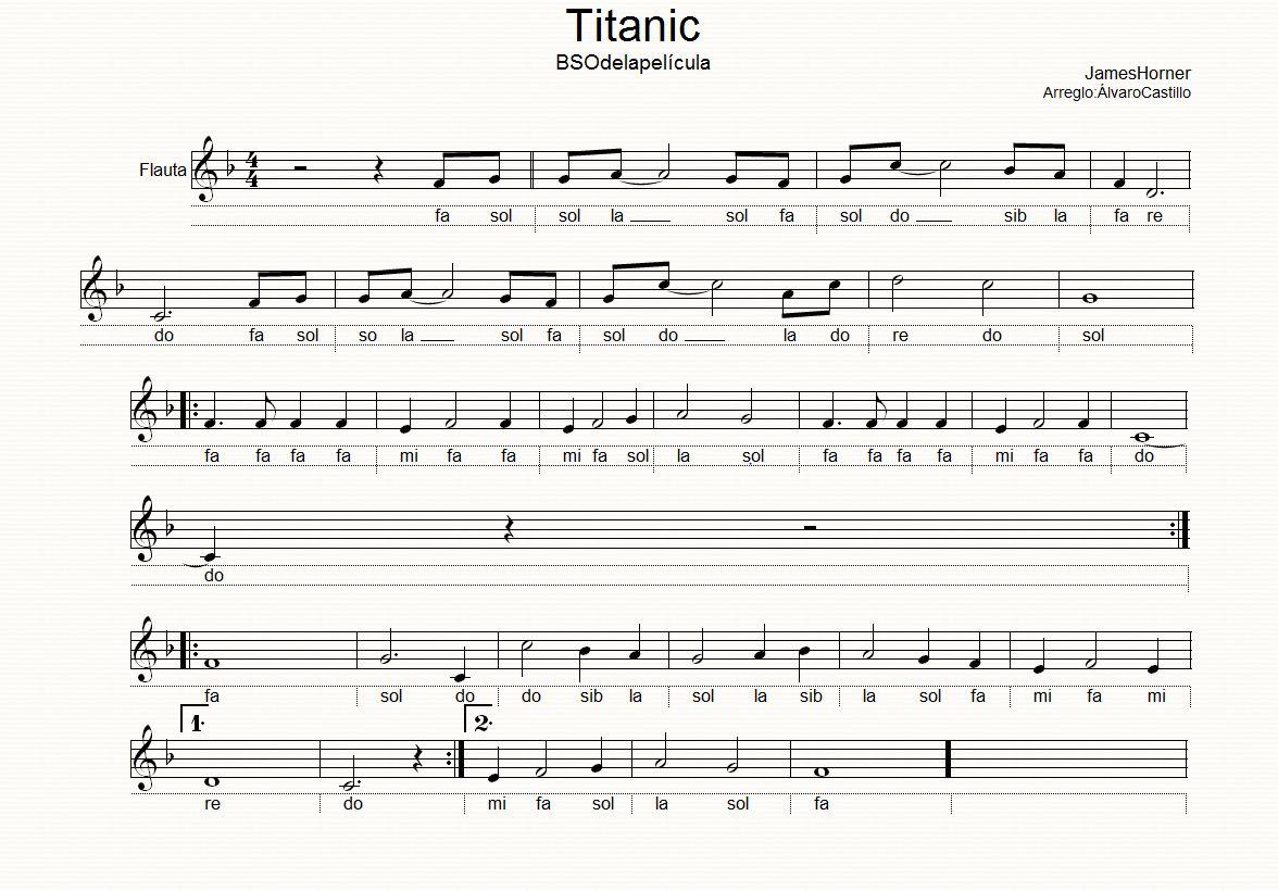 letras de las canciones de titanic: