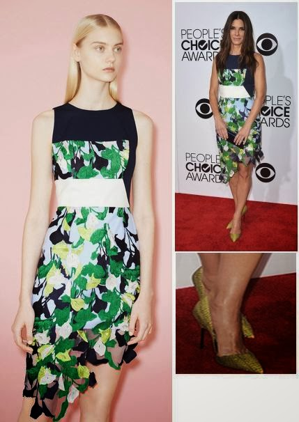 2014 People's Choice Awards Red carpet Fashion, Jessica Alba, PCA 2014, Sandra Bullock