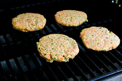 Kalyn's Kitchen®: Grilled Fresh Salmon Burgers with Caper Mayonnaise