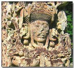 Estela de las ruinas de Copán, Honduras