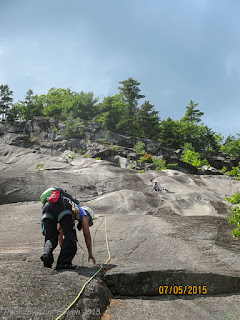 multi pitch rock climb, Whitehorse Ledge