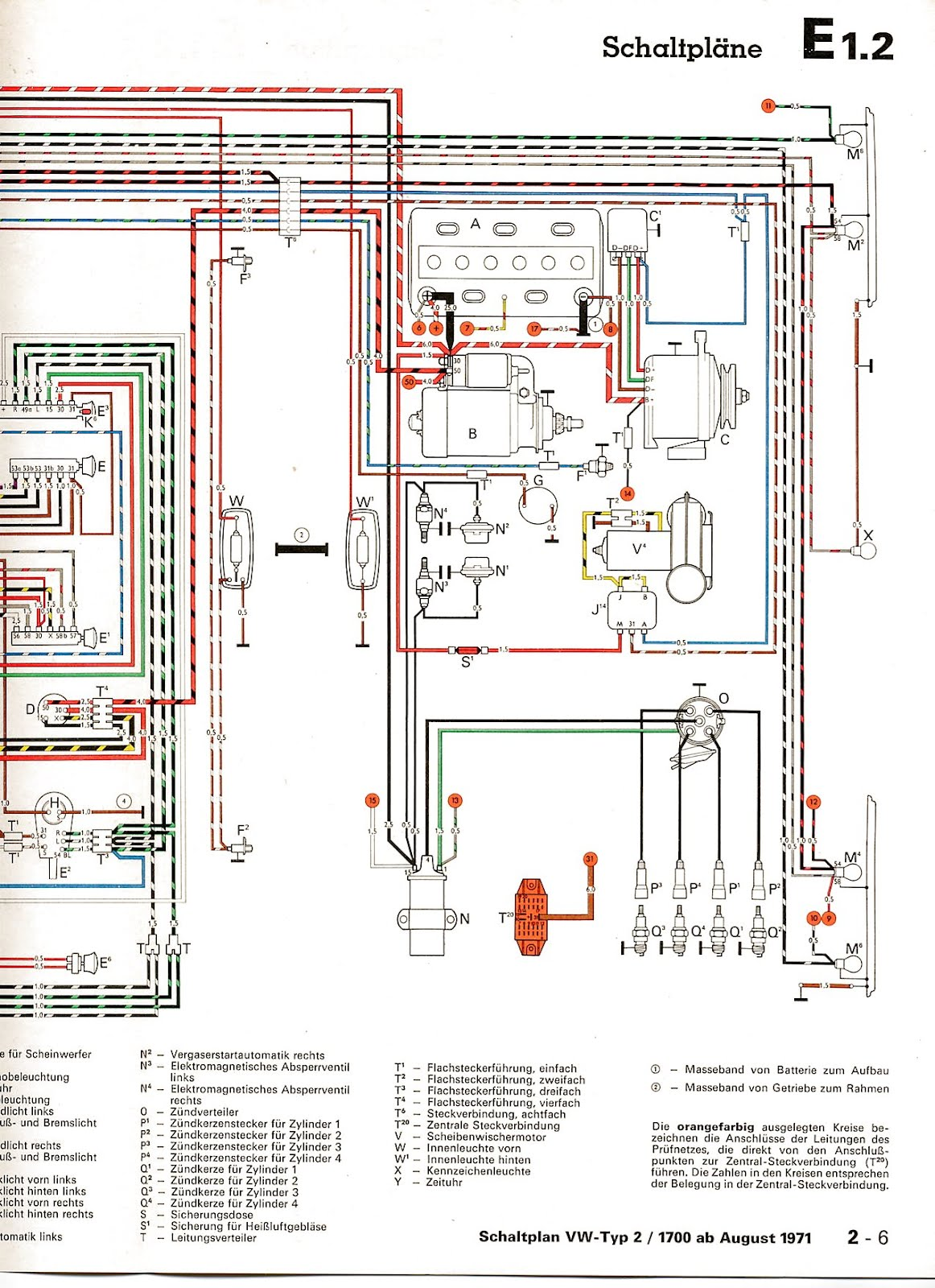 Type From August on 69 Vw Beetle Wiring Diagram