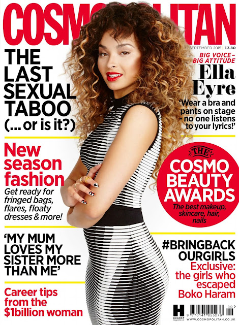 Singer @ Ella Eyre - Cosmopolitan UK, September 2015