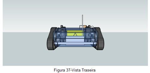 Vista traseira -  Veículo movido por esteiras Orbital