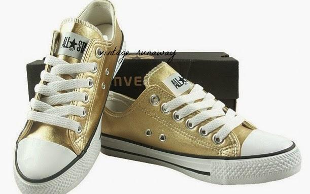 Pu sneakers converse inspired vintage runaway