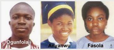 Ogunfolaji, Anyanwu and Fasola