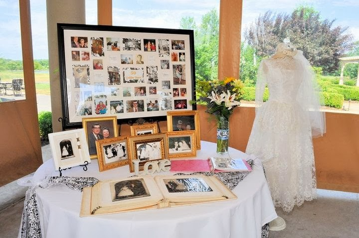 80th Wedding Anniversary Gift Ideas : RE-invented style: RE-ceiving Guests: MOMS 80TH- MEMORY DECOR