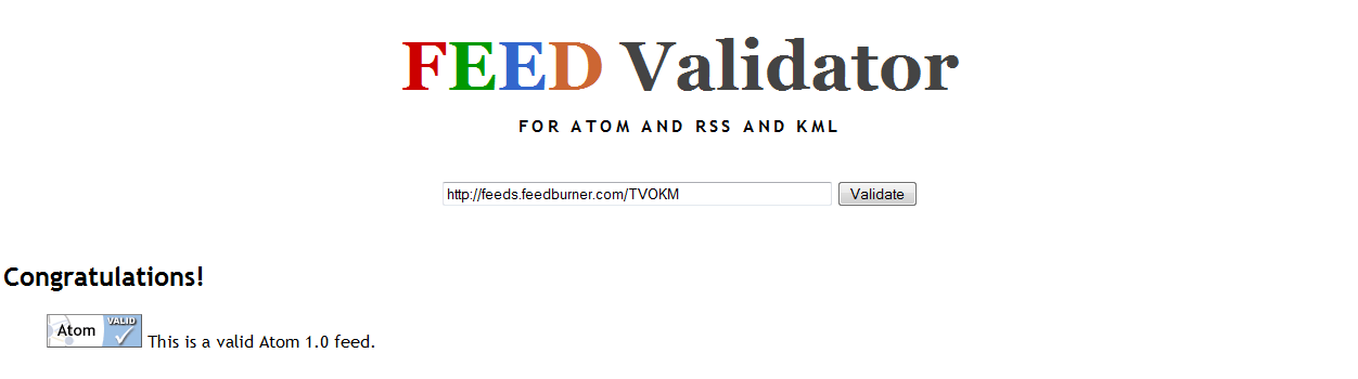 feed validator 'congratulations'