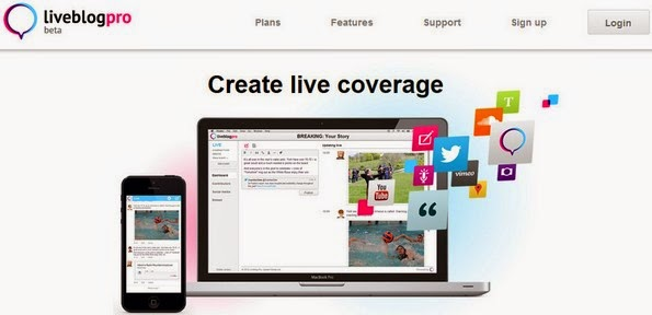 Liveblog Pro service for live blogging