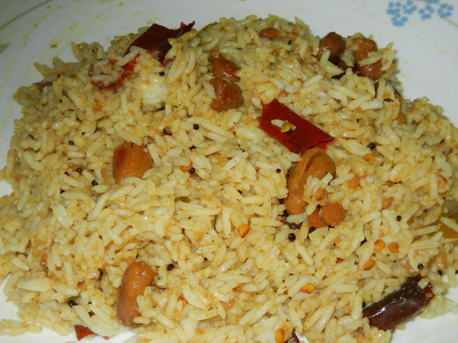 Tamarind rice is a kind of mixed rice which is very popular in south ...