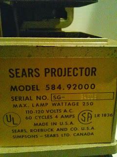 Sears Projector Model 584.92000