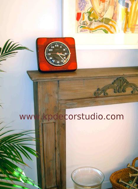 KP. Vintage. Comprar reloj antiguo numeros grandes. Estilo retro-pop