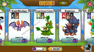 imagen del dragon murcielago y bosque profundo en dragon city ios