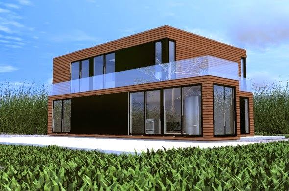The container arts of architectures house 3d for Container home plans for sale