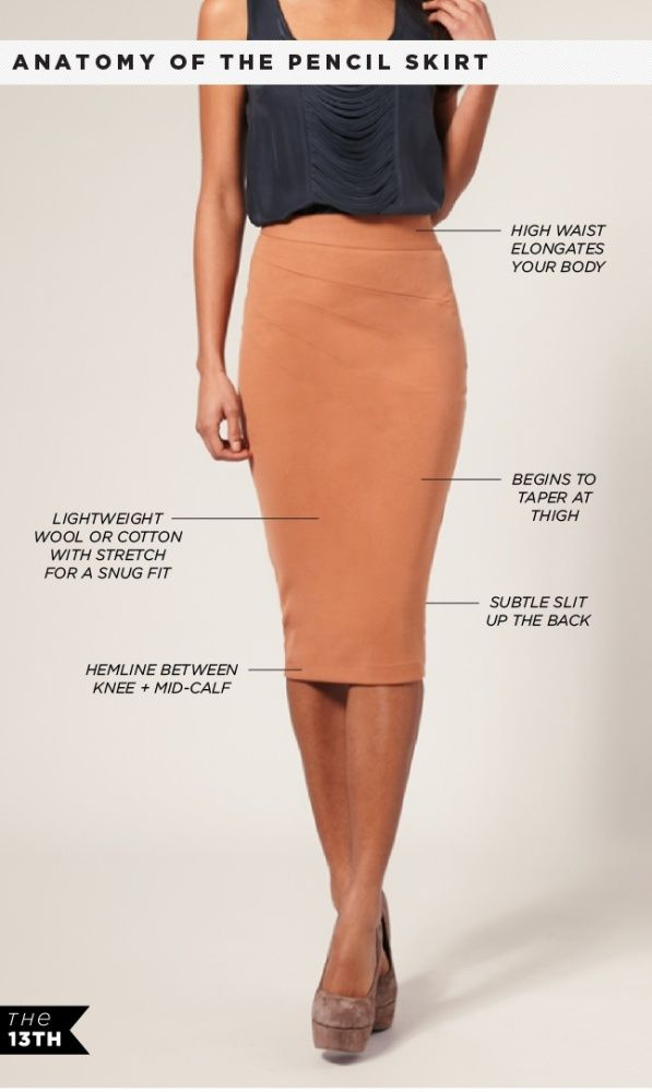 Anatomy of the pencil skirt, pencil skirt,