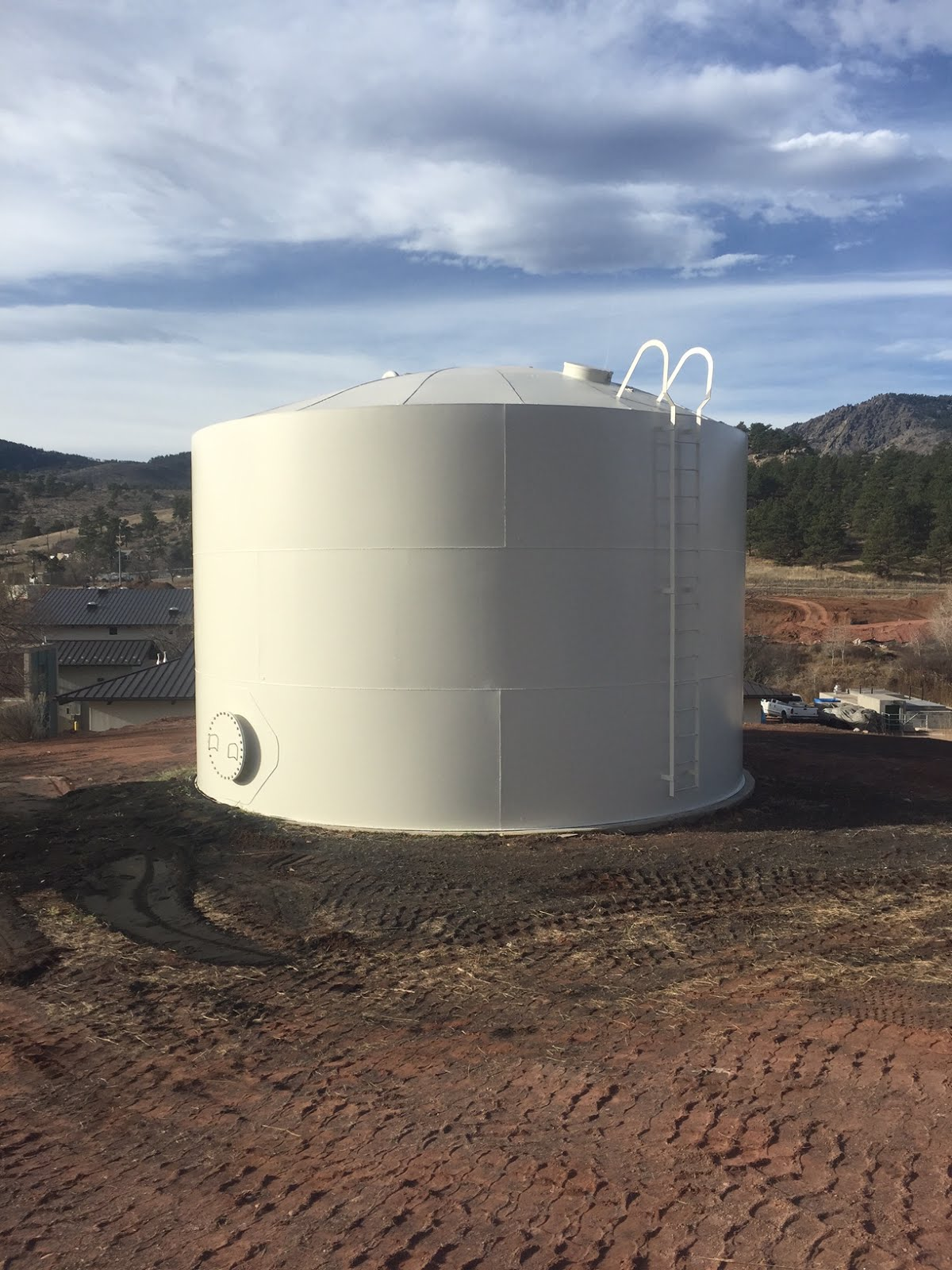 Backwash water tank painting and blasting in Colorado by Base Group. Project involved media blasting to remove existing coatings and replacement of the ... & Backwash Tank Painting   BASE painters