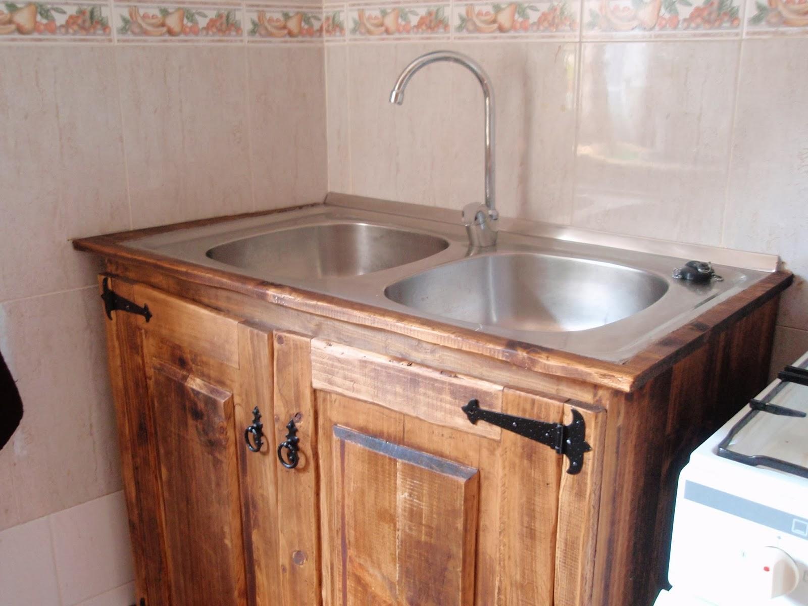 Trabajos r sticos mueble fregadero r stico for Mueble para tarja
