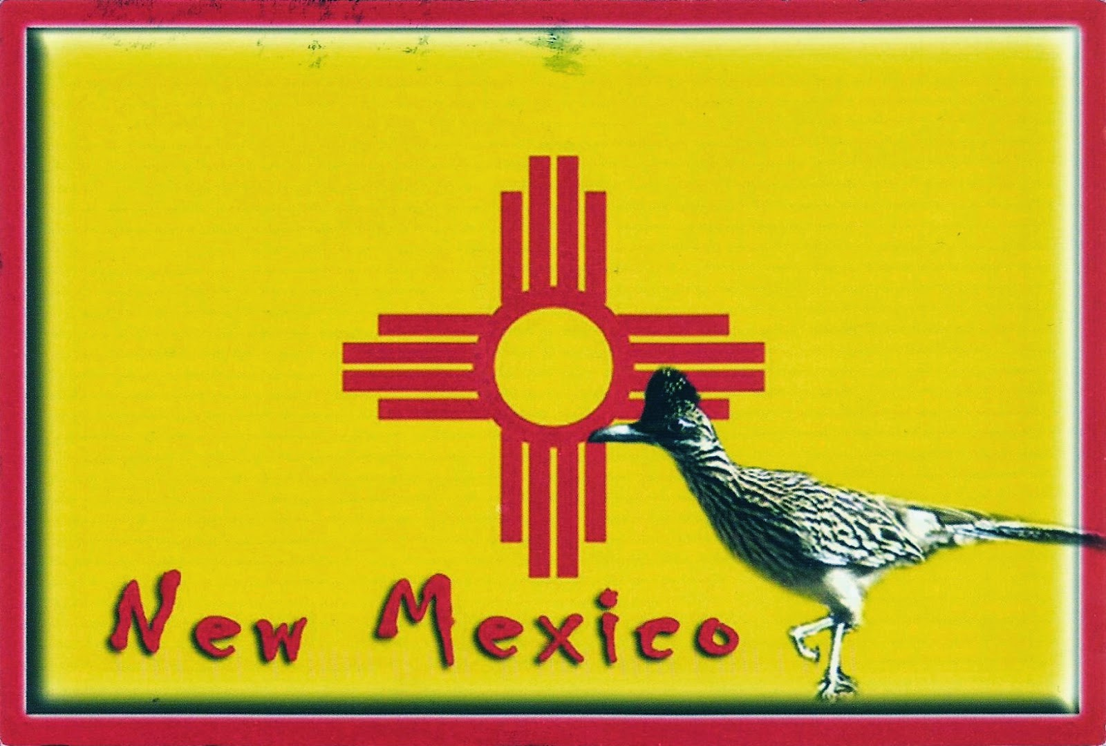 Postcards On My Wall Flag Of New Mexico Usa