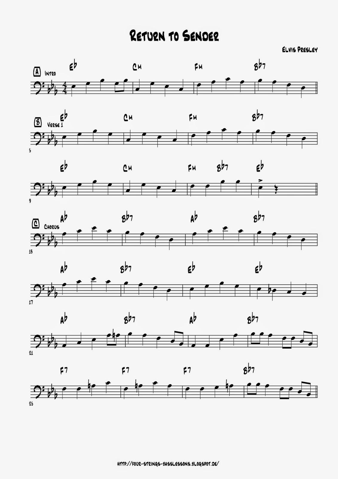 james jamerson bass lines pdf