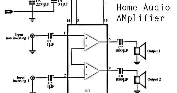 4 channels home audio power amplifier