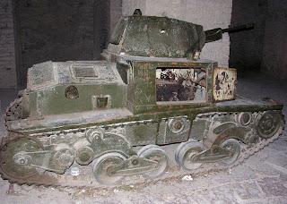 Il carro armato italiano del 1940 al museo in Albania