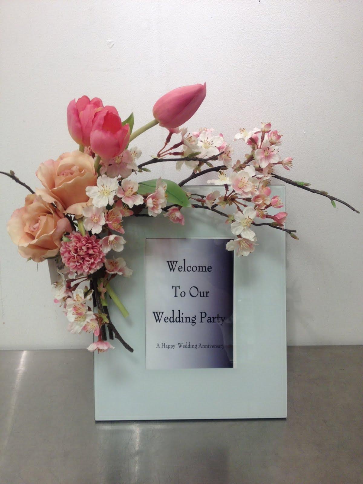 桜とチューリップのウェルカムボード