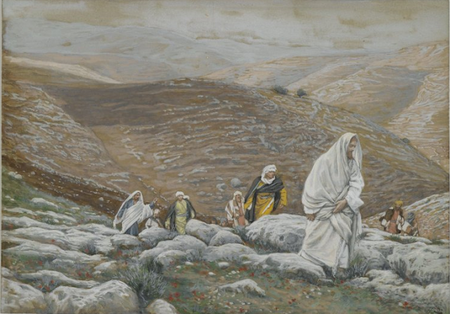 With Passover Approaching, Jesus Goes Up to Jerusalem - James Tissot
