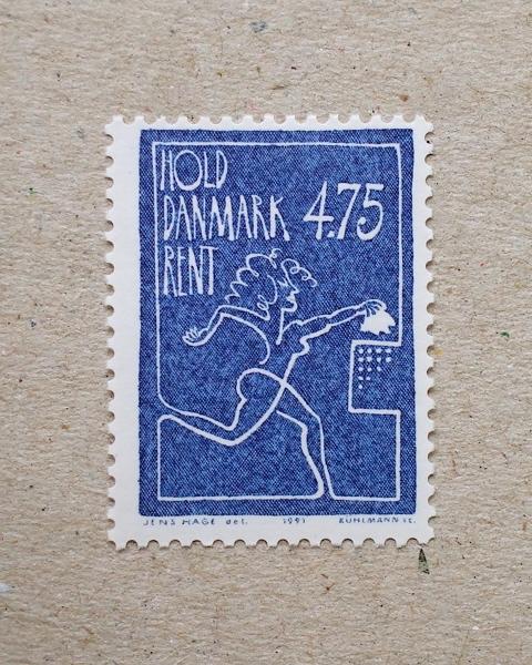 Danmark frimærke 1991, 4,75 - 'Hold Danmark Rent'