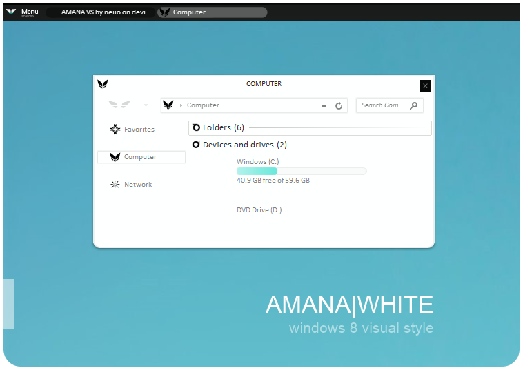 amana visual style untuk windows 8