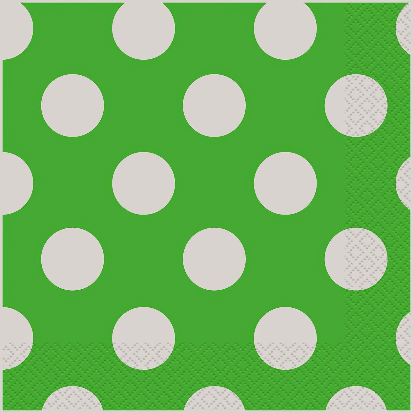 Green Polka Dot Napkin