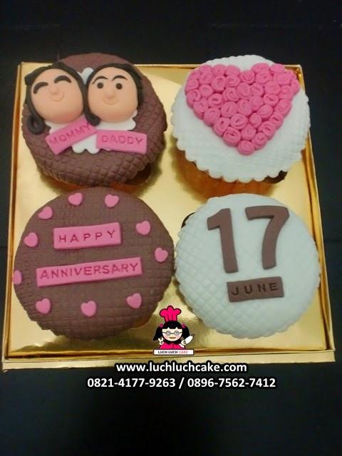 Cupcake Romantis Hadiah Anniversary Daerah Surabaya - Sidoarjo