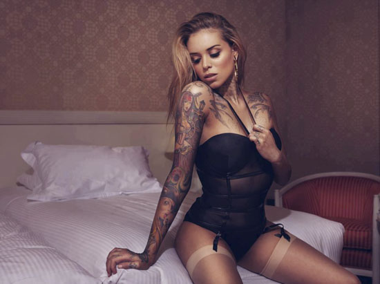 Tattoo inked Arabella Drummond