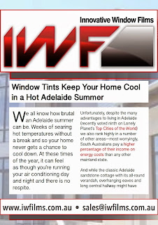 Innovative Window Films are the leading Adelaide supplier of domestic window tints
