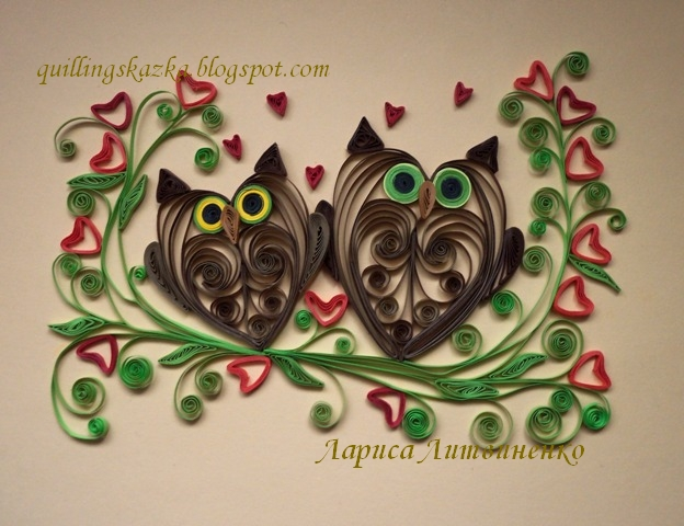 Heart stealer quilling designs january 2012 for Quilling heart designs