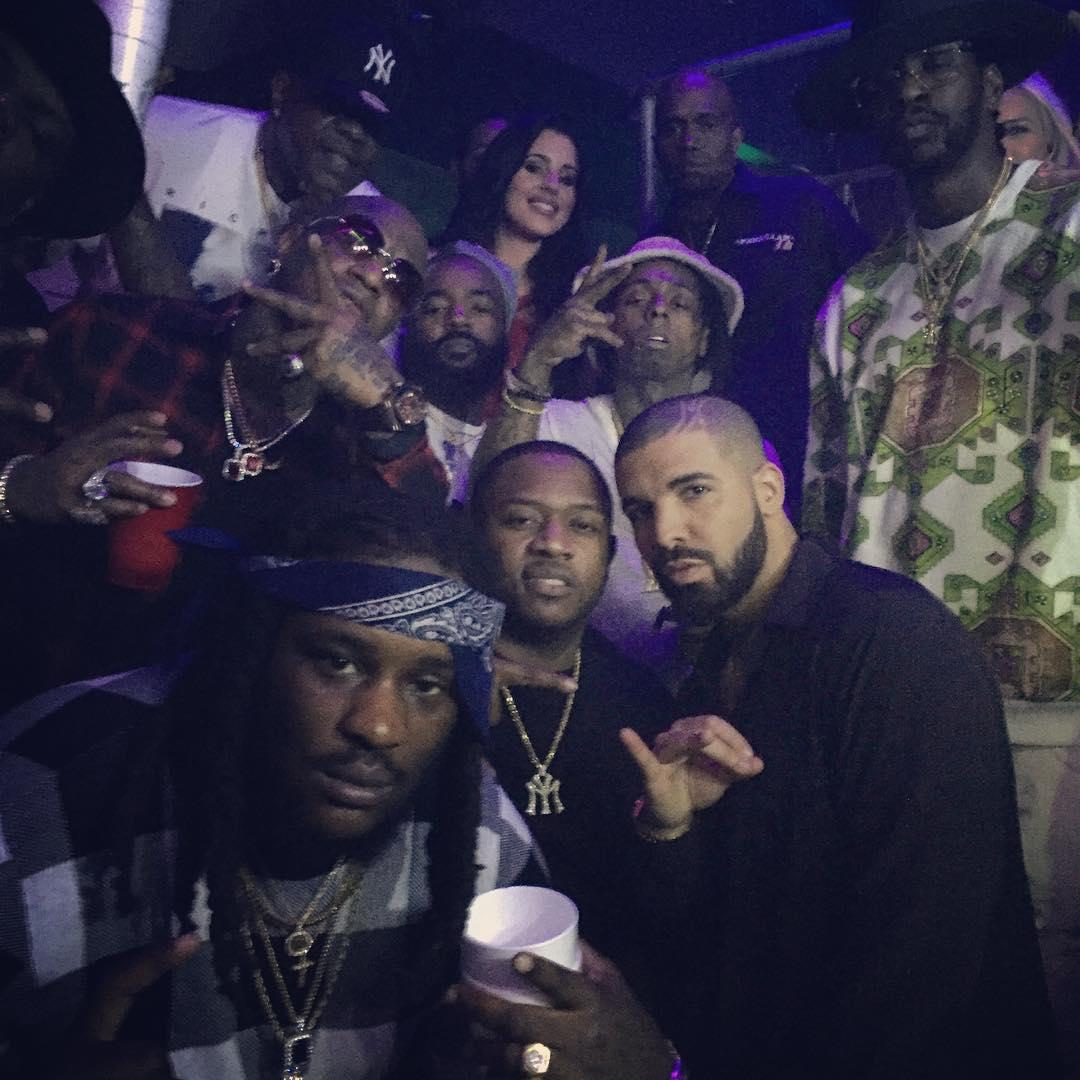 Lil Wayne e Birdman comemoram o Ano Novo juntos