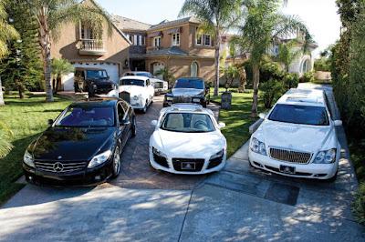 Carrões dos rappers do Three 6 Mafia